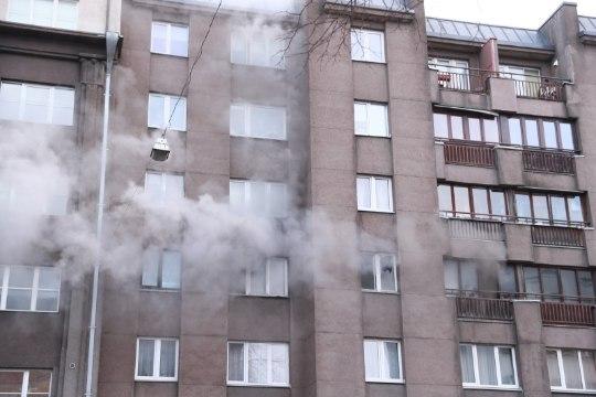 Фото: в центре Таллинна пожар
