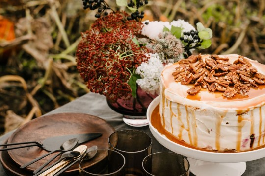 BLOGI   Kõrvitsa-toorjuustukook karamelli ja pekanipähklitega