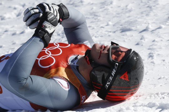 ВИДЕО: российский горнолыжник разбился на Олимпиаде
