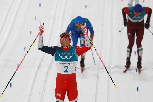 ÕL OLÜMPIAL   Võimas Kläbo napsas legendaarselt Gunde Svanilt olümpiarekordi
