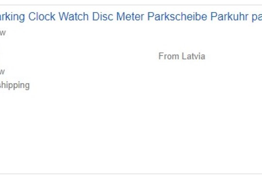 FOTOUUDIS   Lätlane müüb vana Selveri parkimiskella kaheksa euro eest