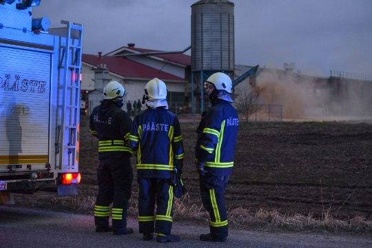 GALERII | Viljandimaal läks põlema saepurupunker