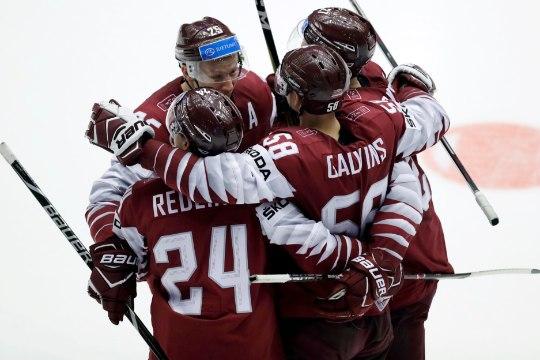 GALERII | Läti võitis tähtsas matšis Pyeongchangi olümpiamängude finalisti