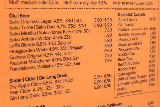 Õlle hind Raekoja platsil aina tõuseb – kaheksa euro piir on ületatud!