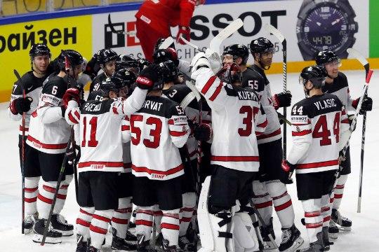 Kanada ja USA jõudsid esimestena jäähoki MMi poolfinaali