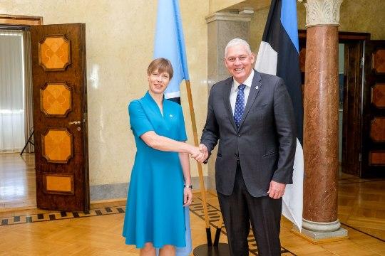 FOTOUUDIS | Kaljulaid kohtus Saint Lucia peaministriga