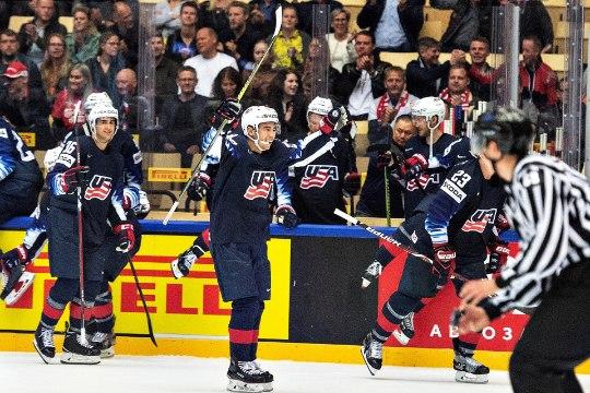 JÄÄHOKI MM: USA alistas põnevuslahingus Kanada, Venemaa purustas prantslased