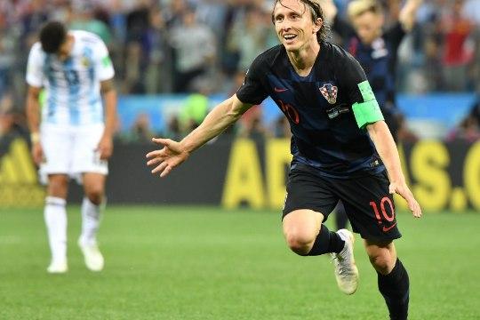 Horvaatia kapten Luka Modric: meie mäng oli ideaalne
