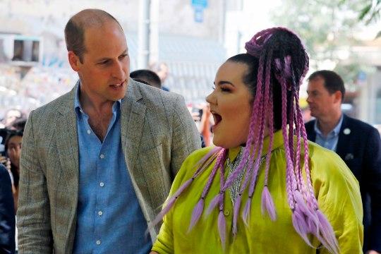 Prints William kohtus Eurovisioni võitja Nettaga