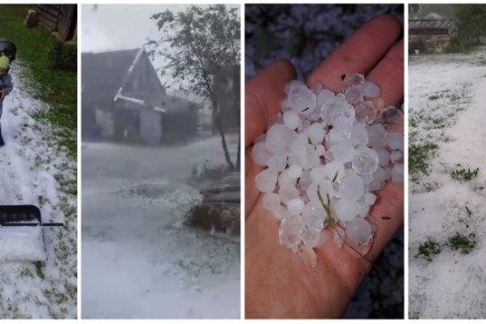 У природы нет плохой июльской погоды: сегодня в Эстонии выпал град (ВИДЕО)