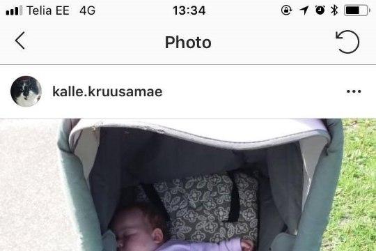 FOTO | Helen Kalvi-Kalle prohmakast: seletasin, et laps ei tohi veel istuvas asendis olla