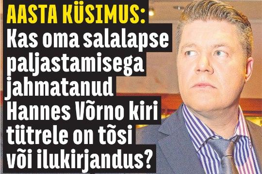 Hannes Võrno: kui ma peaks varjama, et mul on tütar, siis miks ma sellest oma blogis kirjutaks?