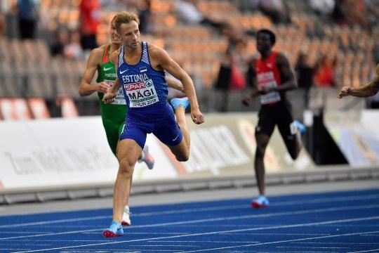 Kahju: Rasmus Mägi finaali algus ebaõnnestus ja ta lõpetas kuuendana