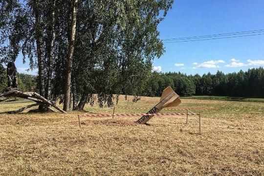 Ракета найдена: в Вырумаа посмеялись и установили скульптуру снаряда