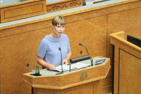"""Президент Кальюлайд в Рийгикогу: неравенство в свободном обществе так же естественны, как и """"страдания"""" из-за большой машины соседа"""