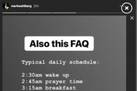 Mark Wahlberg elab hullumeelse päevaplaani järgi!