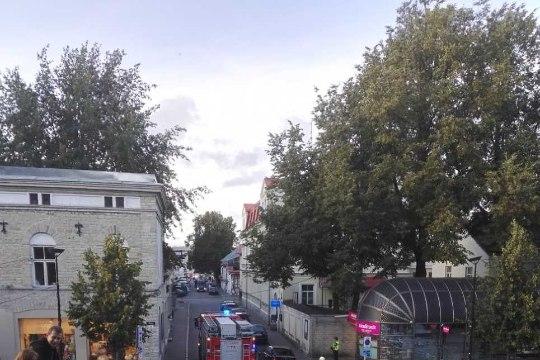FOTOD   Tallinna linnavolikogu lähedalt leiti kahtlane ese