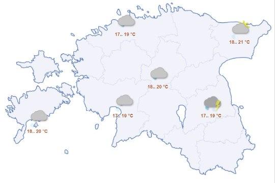 ILMAPROGNOOS: algaval nädalal sajab iga päev vihma