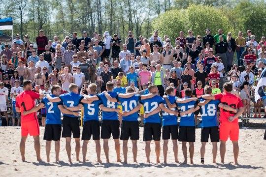 Eesti koondis peab kaks matši Žilina linna peaväljakule loodud rannal