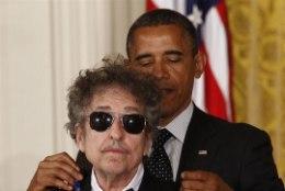 Barack Obama tunnustas Dylanit