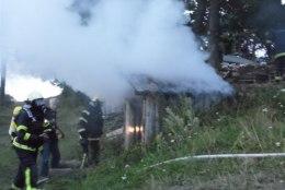 Viru Folgi ajal põles Käsmu meremuuseumi juures saun