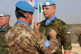 GALERII | Eesti kaitseväelased Liibanonis said ÜRO missioonimedalid