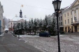JÕULUD ON LÄBI: Tartu raekoja ees võetakse kuused maha