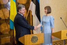GALERII | Ukraina presidendipaar kohtus Kadriorus meie esipaariga