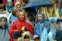 Üle saja aasta statistikat kinnitab tõsiasja: laulupidu peetakse tavaliselt vihmase ilmaga