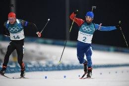 MILLINE FINIŠ! Martin Fourcade võitis Pyeongchangis teise kuldmedali paari sentimeetriga