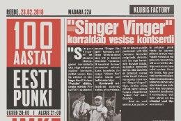 JUUBEL: Singer Vinger, J.M.K.E. ja Psychoterror ehk 100 aastat Eesti punki!