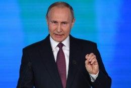 Venemaa president Vladimir Putin pidas Moskvas ülisõjaka kõne