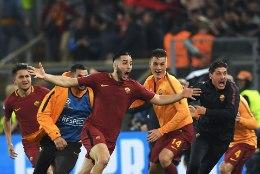 VIDEO | Vaata, millise võidutantsu panid Roma mängijad püsti pärast Barcelona väljalülitamist