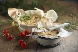 Küpsetatud ricotta oliivide ja parmesaniga