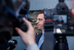 """FOTOD KADRIORUST   Marti Kuusik andis Ratasele ametist taandumise avalduse. """"Aga ma ei ole vägivallatseja!"""""""