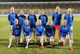 Naiste jalgpallikoondis kaotas võõrsil Sloveeniale