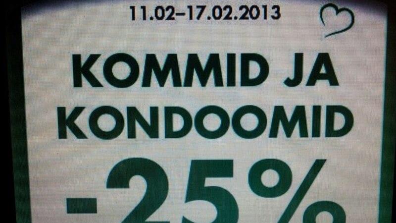 Allahindlus Prisma moodi: kommid ja kondoomid käivad ikka käsikäes...