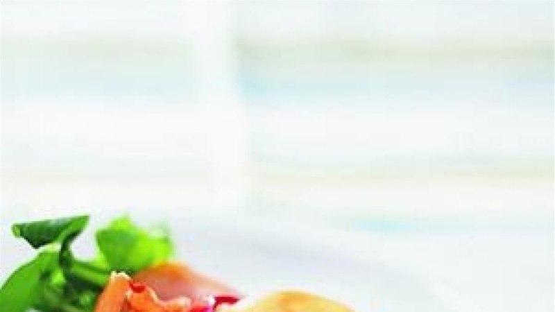 Singi-salatikompsud vaarikakastmega
