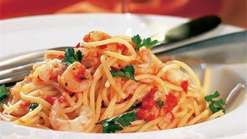 Krevetispagetid