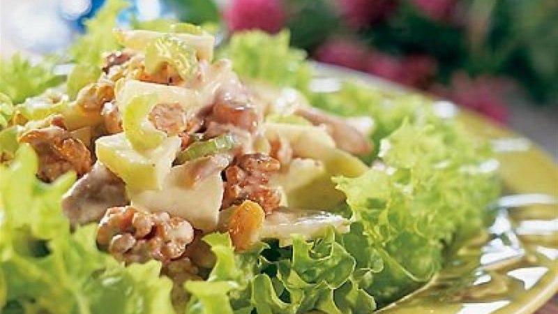 Waldorfi salat kanalihaga