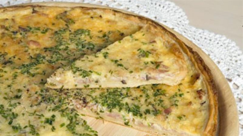 Singi-juustu quiche