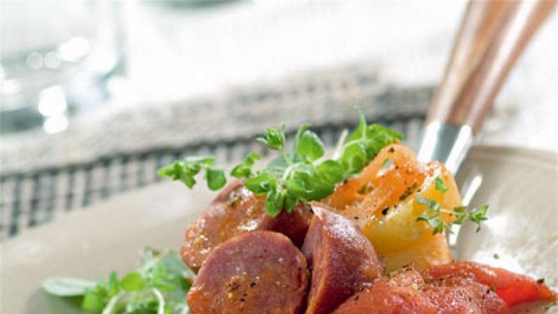 Hõlbus kartuli-vorsti pajaroog