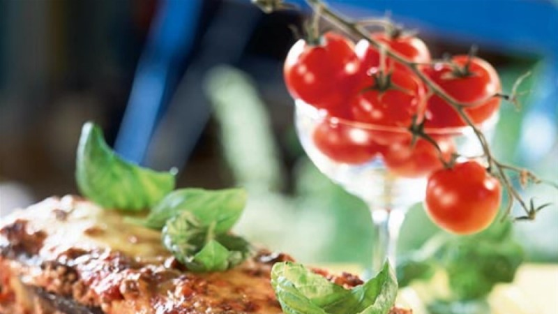 Tomati-baklažaanilasanje hakklihaga
