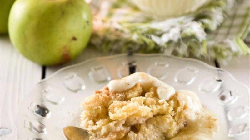 Krõbe õunavorm vanillikastmega