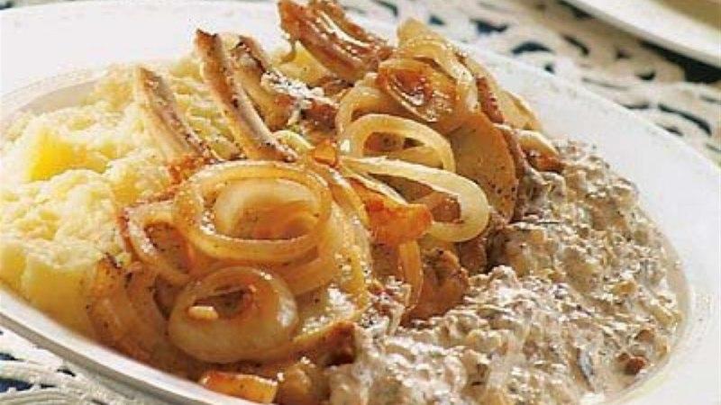 Karbonaad kartulipudru ja metsaseenekastmega
