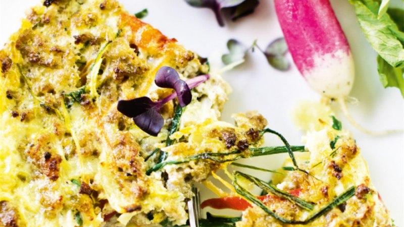 Kartuli-quiche spinati ja kanahakklihaga