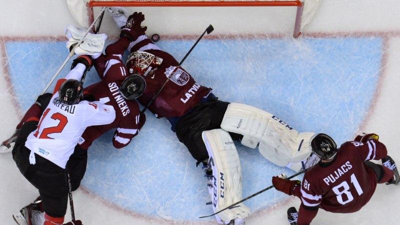 GALERII: Läti hokimuinasjutt lõppes - Kanada võttis napi võidu