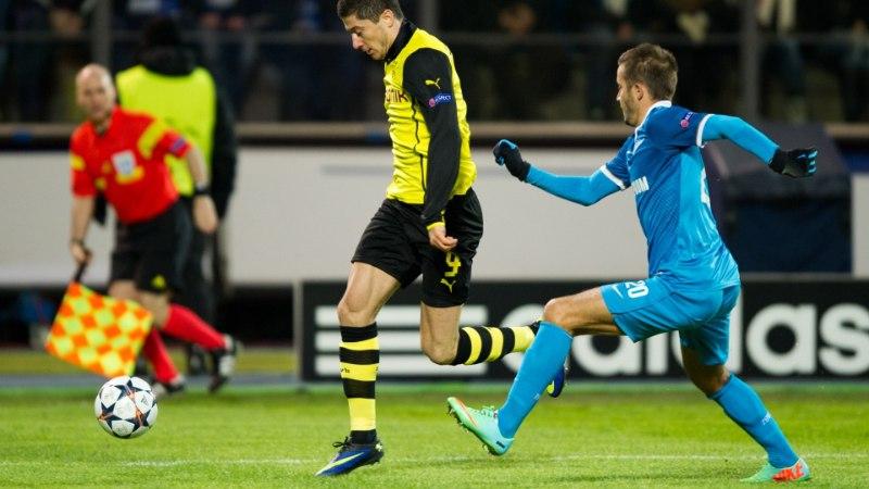 Olympiacos võimutses kodus Unitedi vastu, Dortmund võitis Venemaal