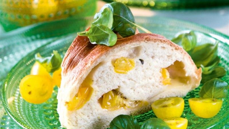 Kollase tomati ja mozzarella pärg