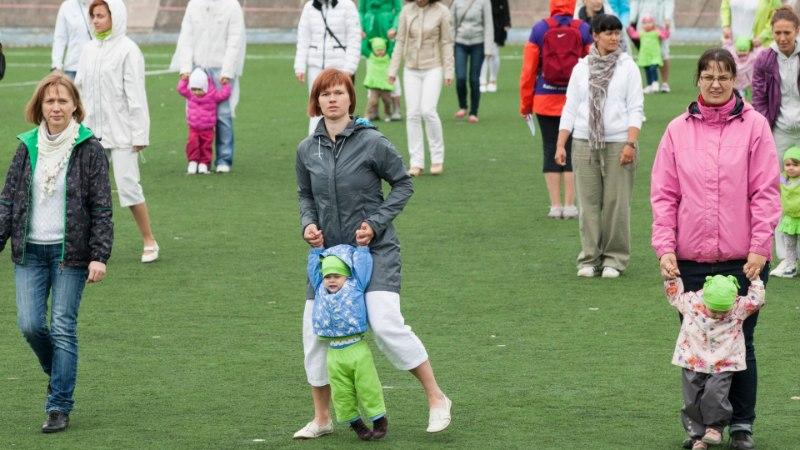 GALERII: vanemad võsukestega valmistuvad võimlemispeoks